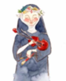 Catherine of Bologna - Cedar and Stars W