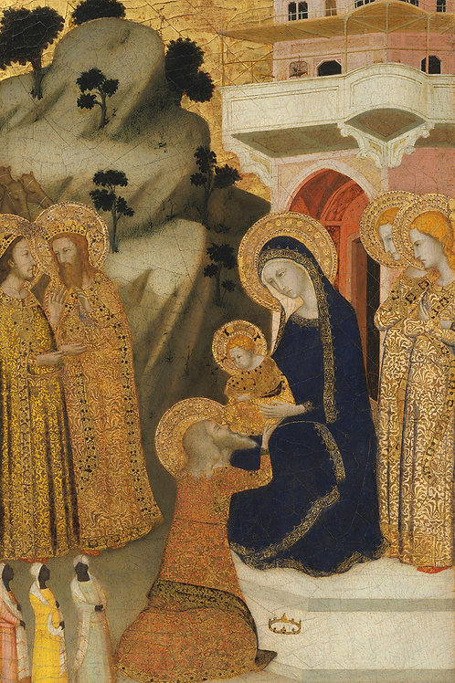 Adoration of the Magi Plaque-mount -Giotto inspired