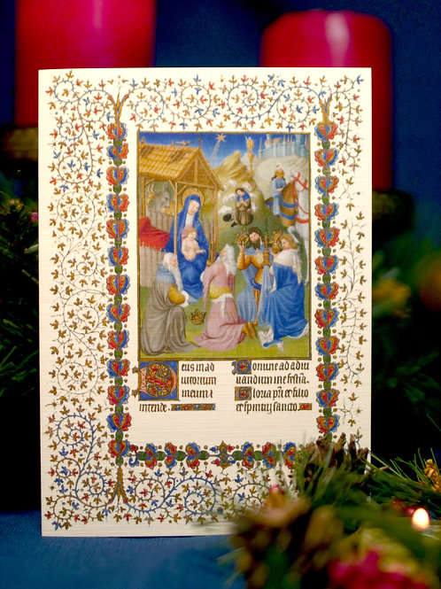 Belles Heure Christmas Card- Adoration of the Magi