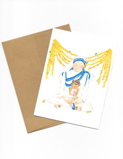 Mother Teresa Brown Envelope