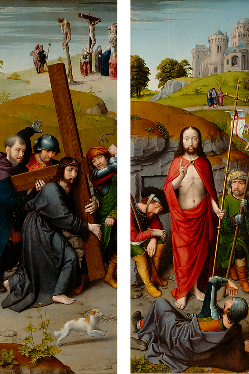 Christ Carrying the Cross, Resurrection Diptych- Gerard David