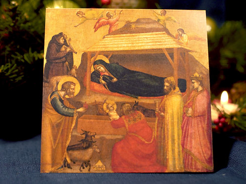 The Adoration of the Magi Christmas Card- Giotto di Bondone