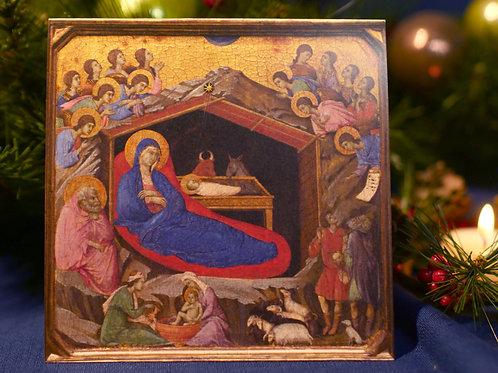 The Nativity Christmas Card - Duccio Di Buoninsegna