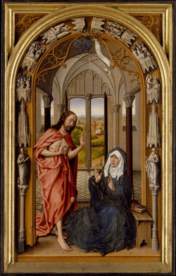 Meets his Mother- Juan de Flandes