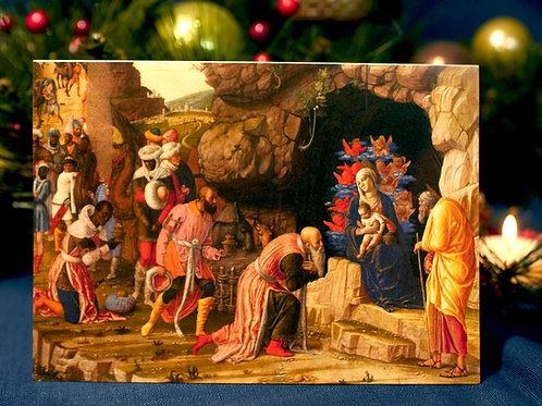 Adoration of the Magi Christmas Card- Andrea Mantegna