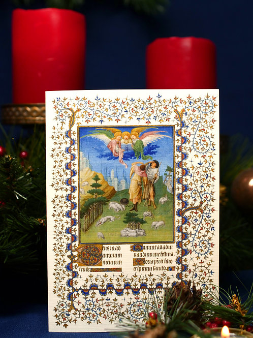Belles Heure Christmas Card- Annunciation to the Shepherds