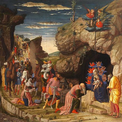 Adoration of the Magi Plaque-mount - Andrea Mantegna