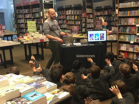 Author visit and book signing at Waterstones Finchley Road