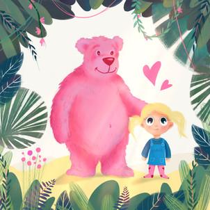 Bär und Mädchen