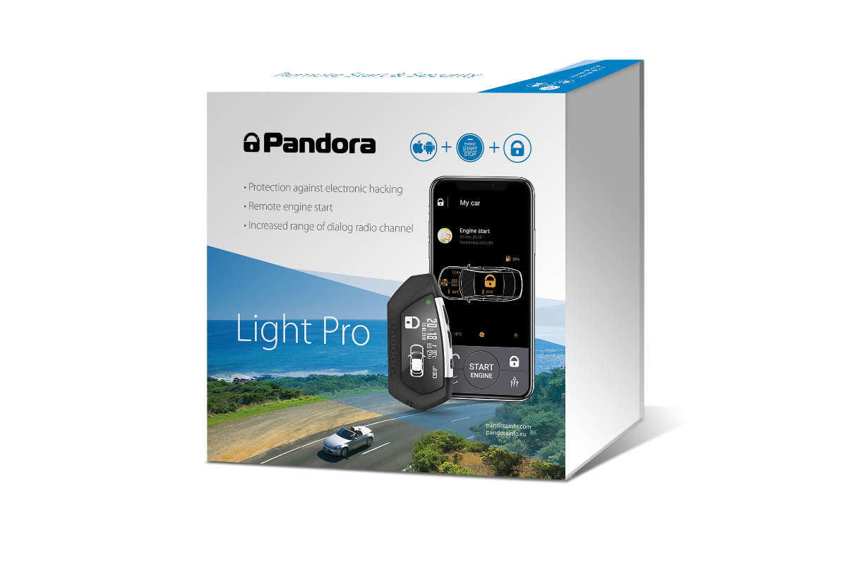 Pandora Light Pro V2 Car Alarm with Long range LCD Pager & Bluetooth