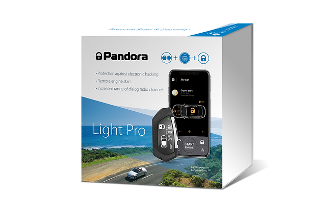 pandora light pro car alarm security rem
