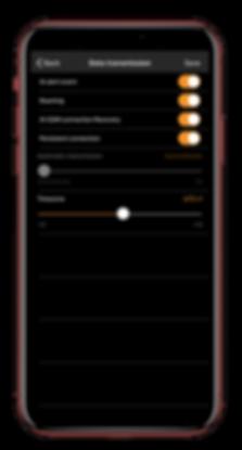 iphone xMax data transmission SCREEN SHO