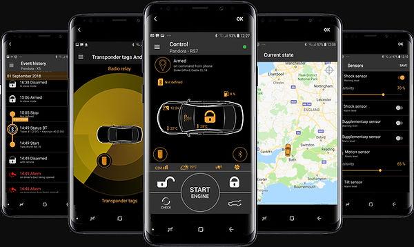 Pandora car alarms smart gsm remote star