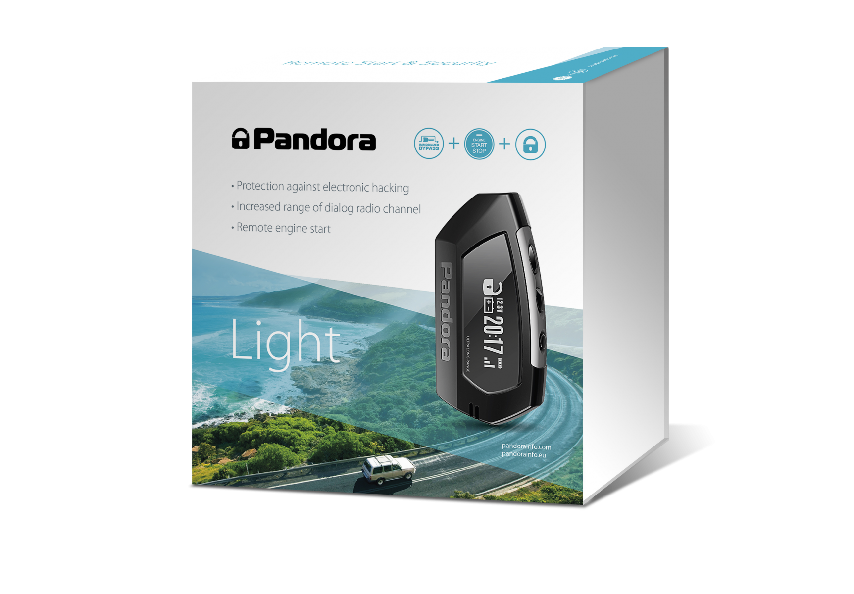 Pandora Light car alarm with long range pager