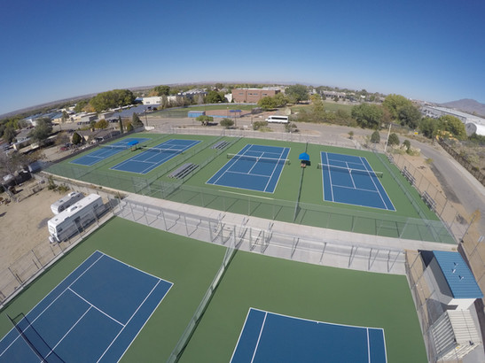 Sandia Prep Sundevil Tennis Court