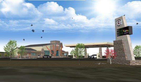 Picuris Pueblo travel center (White Buff