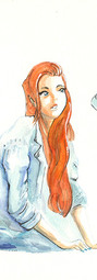 gril_and_the_robot_mecha_watercolor_wate