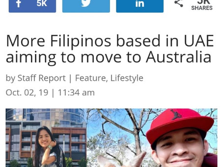 More Filipinos based in UAE aiming to move to Australia