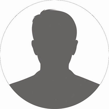 Generic Male headshot 2X2 circle - Gray.