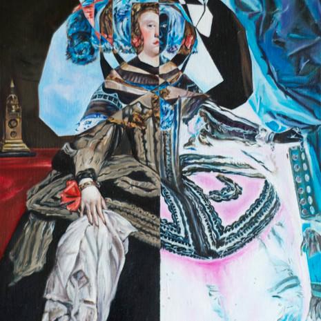 "After Velazquez' ""Portrait of Mariana of Austria"" (1652-1653)"