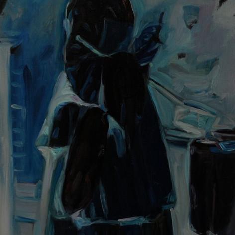"""After Chardin's """"The Attentive Nurse"""" (1738)"""