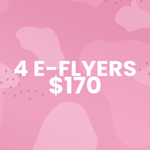 4-Flyers For $170
