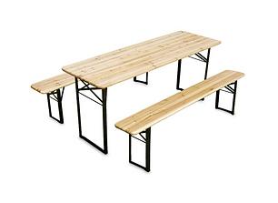 Table et bancs bois
