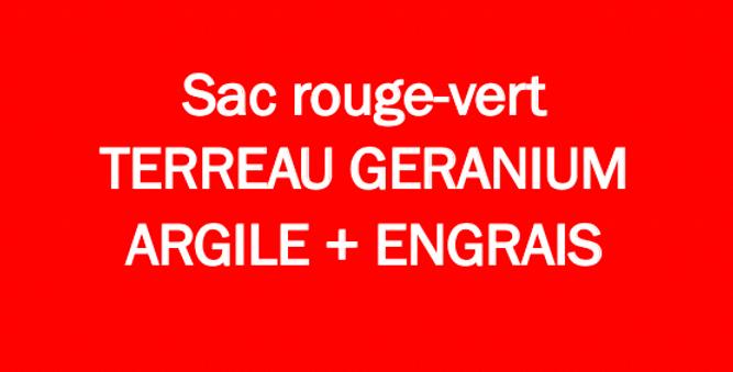 Terreau Géranium 70L.