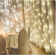 décoration de salle, rideaux lumineux
