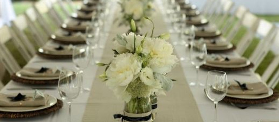 Table rectangle mariage location
