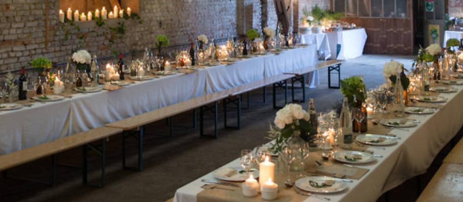 Table et bancs brasserie