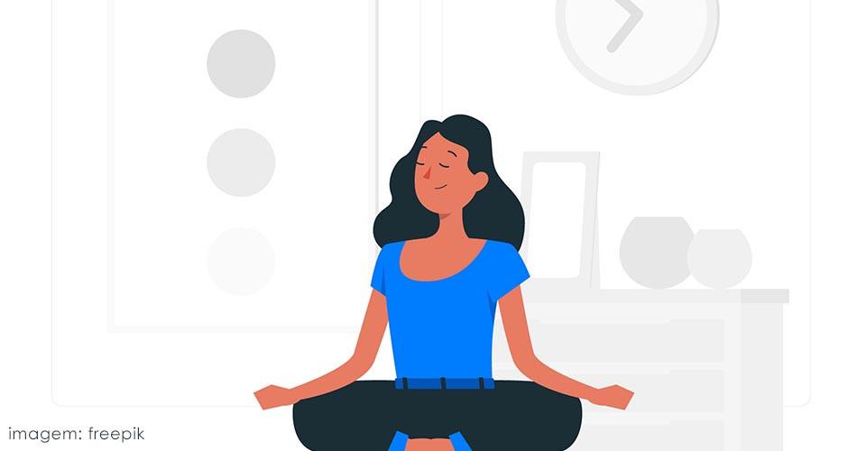 Bons hábitos: frase sobre meditação