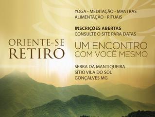 """Retiro """"Oriente-se, um encontro com você mesmo"""" 24 a 26 de março"""
