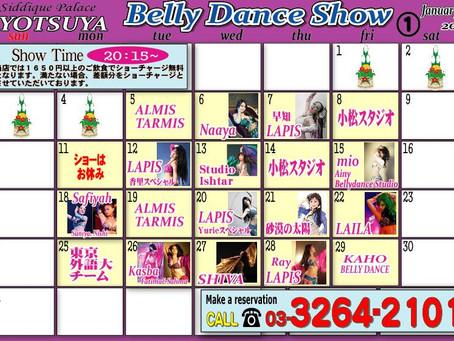 ベリーダンス 1月