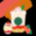 メリーストロベリー ケーキ フラペチーノIllustration.png