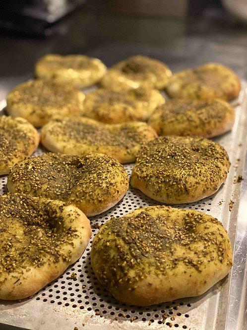 4 st Manakish (Zaatar Bröd)