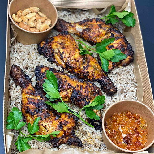 Fakhed Djaj Mashwi - Grillad kycklingklubba & Kryddris