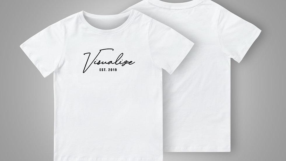 "White ""Est 19"" T Shirt"