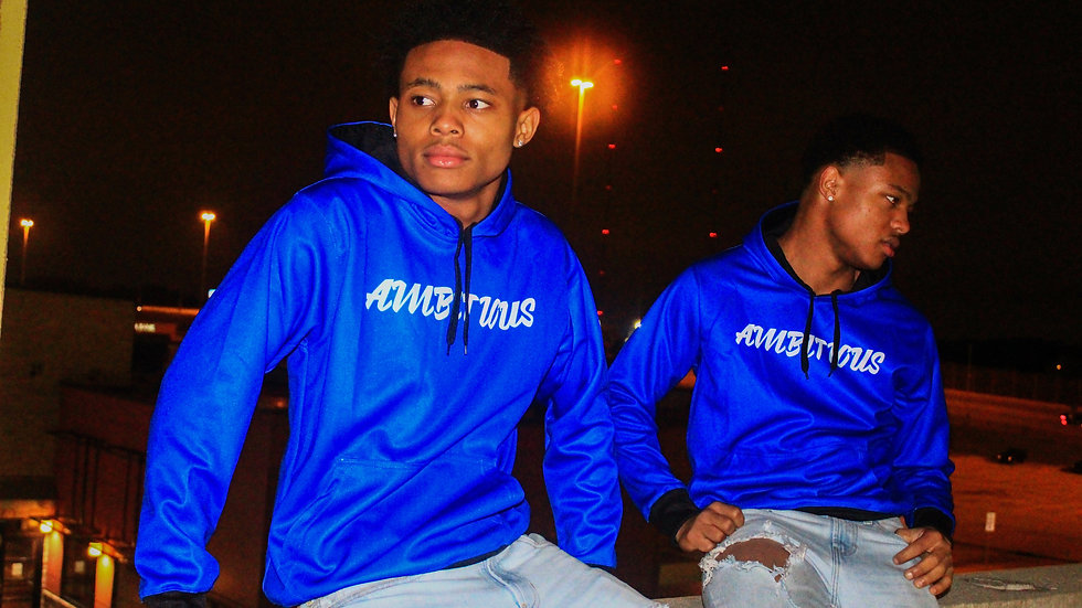 """Ambitious"" Blue Hoodie"