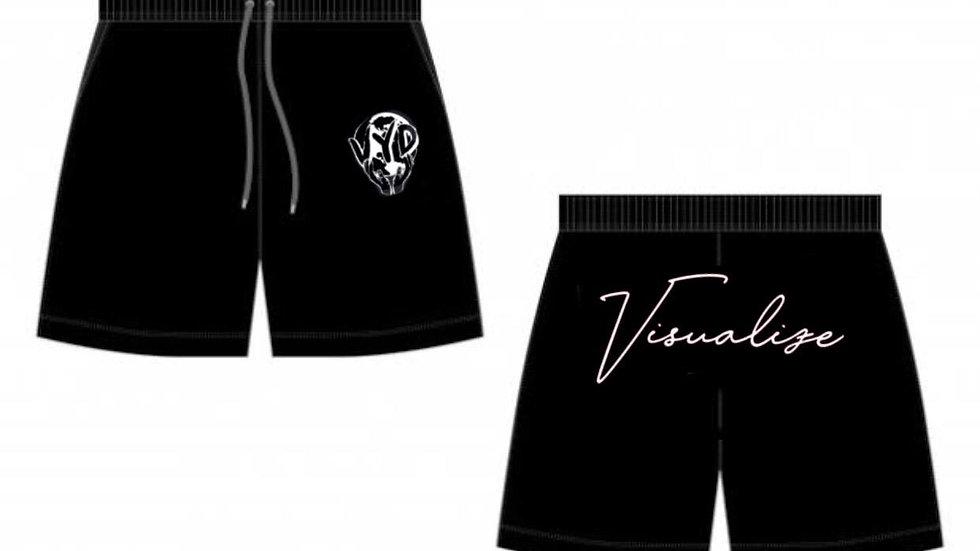 """Black """"Visualize"""" Booty Shorts"""