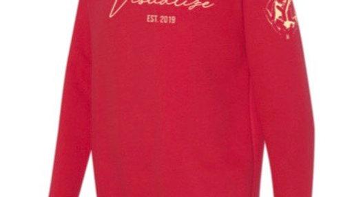 """Red """"Est 19"""" Sweatshirt"""