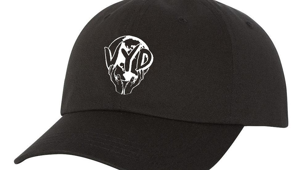 "Black ""VYD Globe"" Hat"