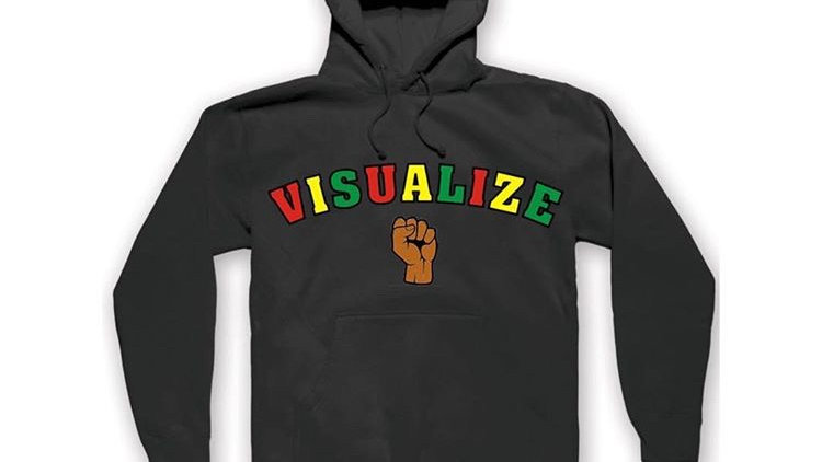 """Black """"Visualize"""" Hoodie"""