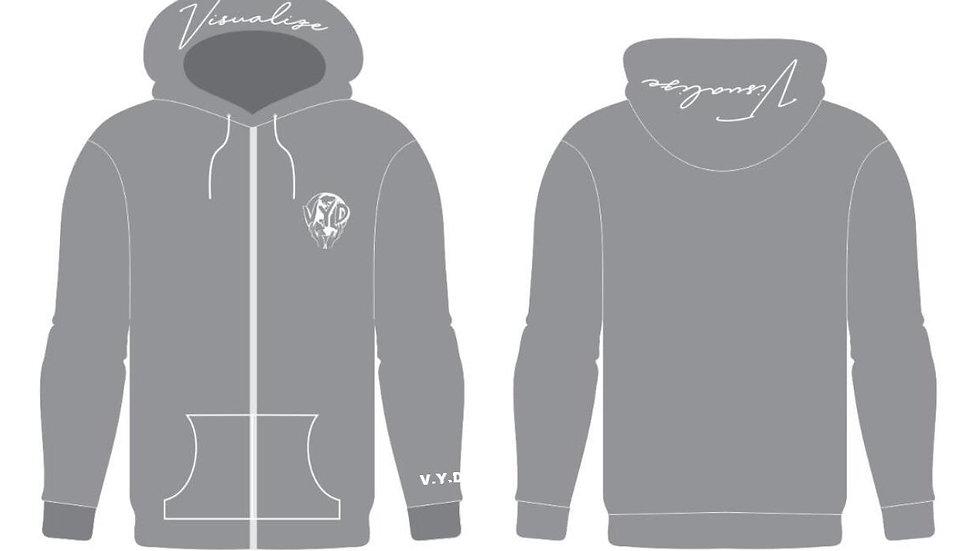 "Grey VYD ""Visualize"" Zip-up Jacket"