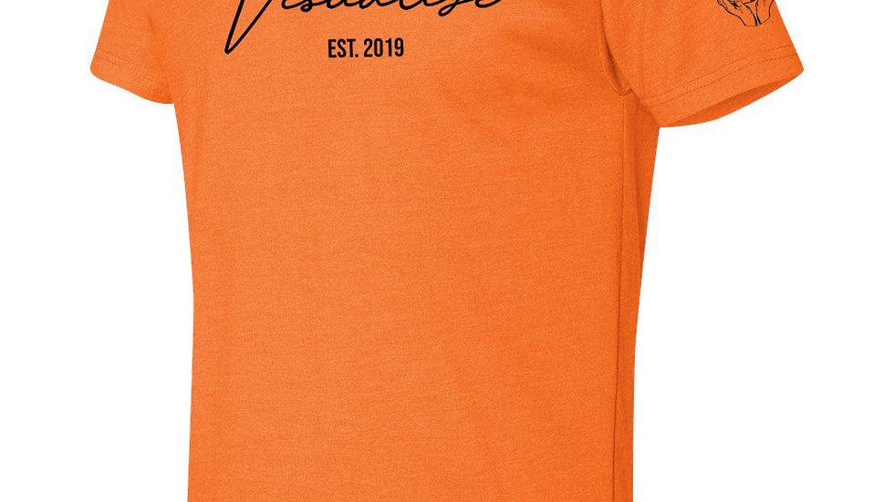 """Orange """"Est 19"""" T Shirt"""