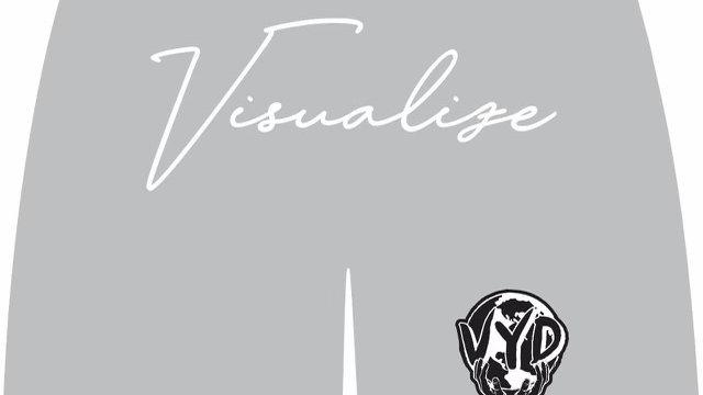 """Grey """"Visualize"""" Men Shorts"""