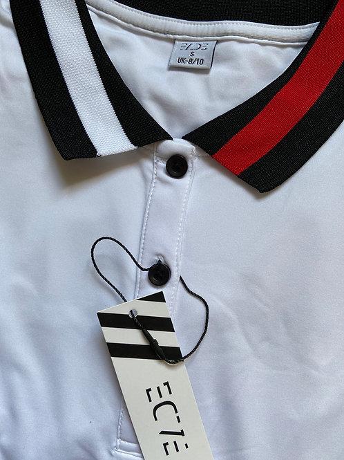 CORE White Focus Short-Sleeve Tech Polo
