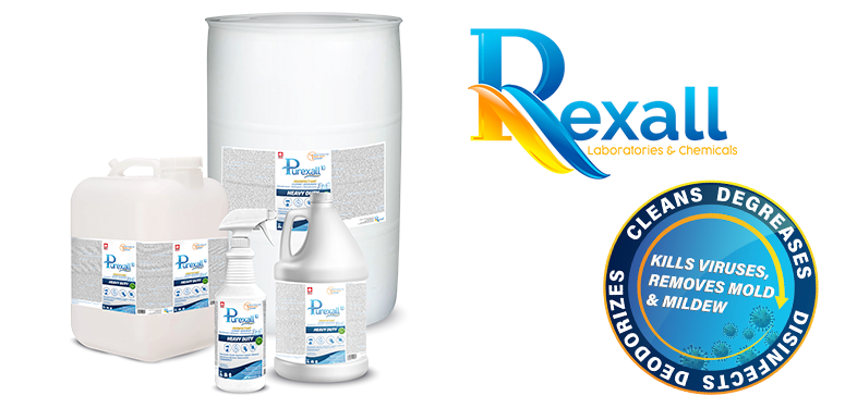 Rexall Labs' heavy-duty degreaser and disinfectant is tested to be effective against SARS-CoV-2