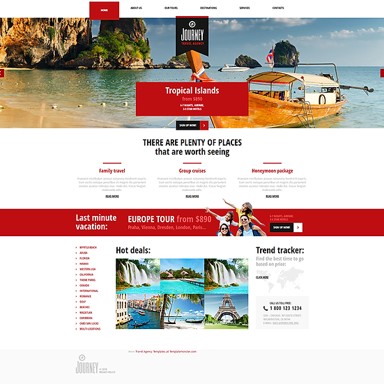 Travel Business website