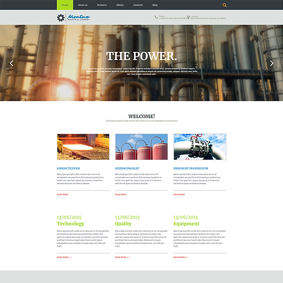 Industry--Business website